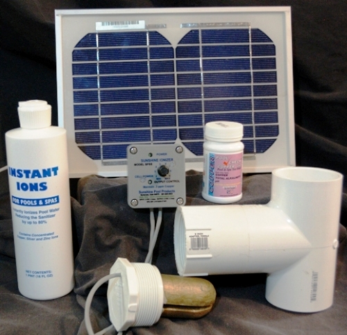 Solar Powered Standard Pool Ionizer Model Spss Treats 25 0000 Gallons Ebay